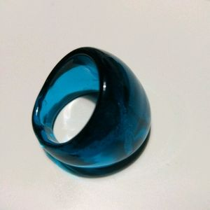 FREE w/$20 Purchase Teal Glass Dome Ring